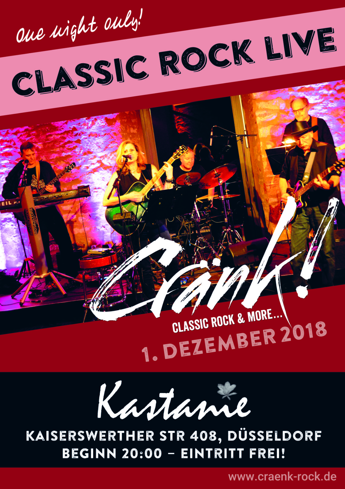 Gig in Düsseldorf am 1. Dezember | Cränk! - Classic Rock & More